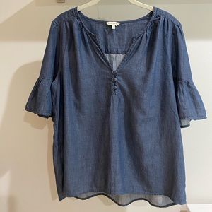 Dark Washed Lucky Brand Blouse